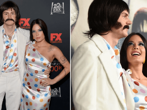 Halsey and Evan Peters go public with romance in costume as Sonny and Cher for Halloween