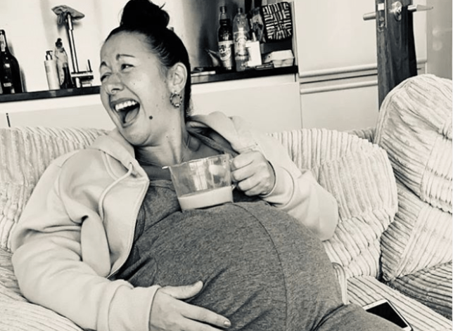 Hayley Tamaddon has given birth