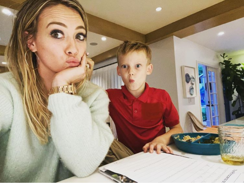 Hilary Duff struggles with son's homework because she left 'real' school in the third grade