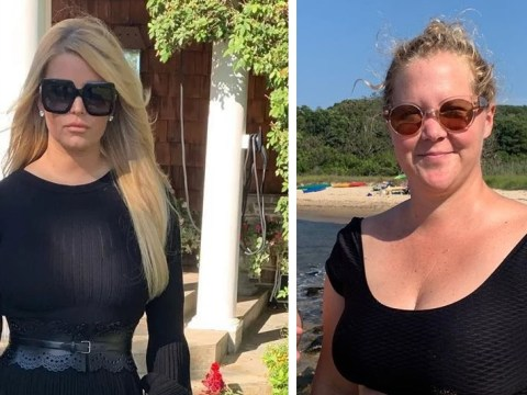 Jessica Simpson shares cheeky 'size' comment as Amy Schumer teases singer over 100lbs weight loss