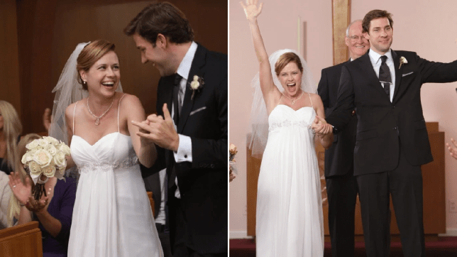Jim Pam the office wedding niagra