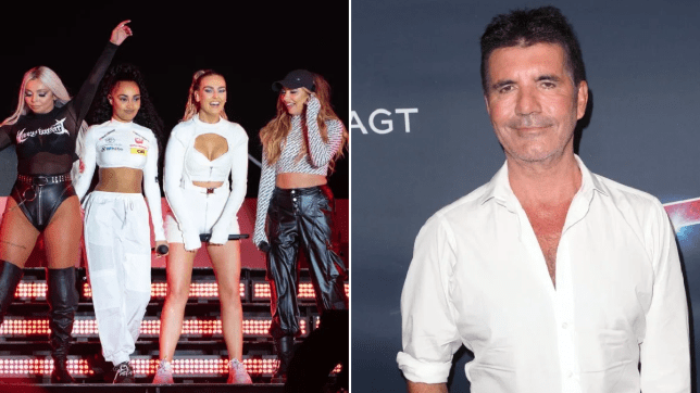 Little Mix and Simon Cowell