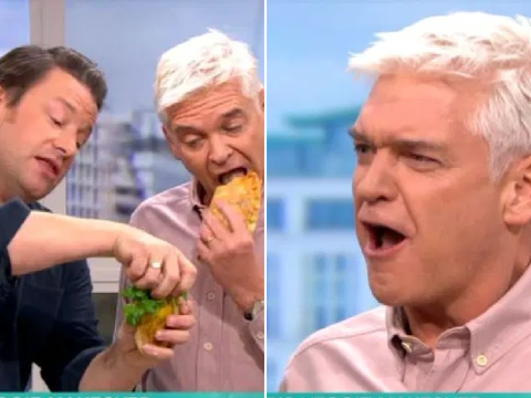 Phillip Schofield jokes Jamie Oliver is a 'filthy pervert' over salad pasty and viewers are in bits