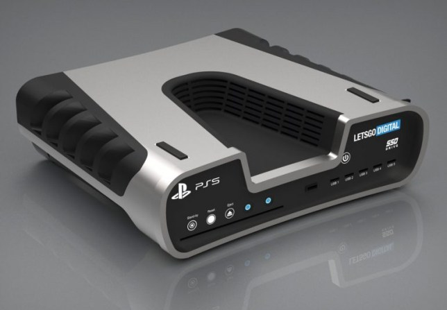 A new render of what the PS5 dev kit supposedly looks like (pic: LetsGoDigital)
