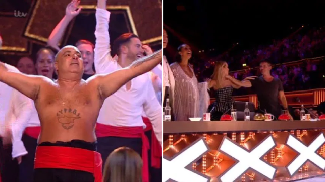 Britain's Got Talent's Simon Cowell dancing to Stavros Flatley in Champions final is a total mood