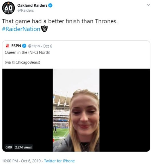 Sophie Turner tweet