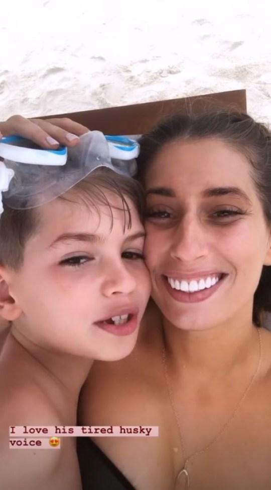 Stacey Solomon and son Leighton