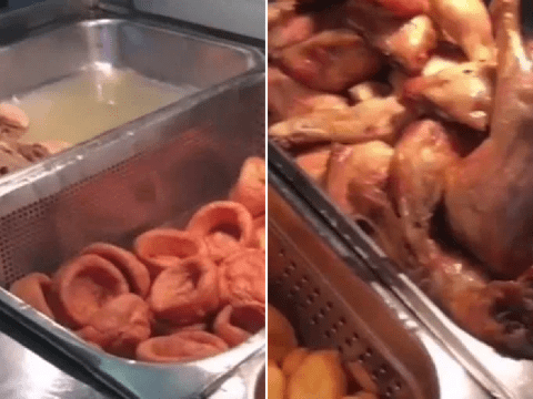 Prisoner compares his Sunday roast to 'dog food' in illegal smartphone video