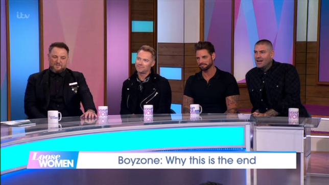 Boyzone remember Stephen Gately on Loose Women