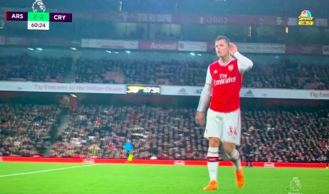 Granit Xhaka clashed with Arsenal fans as he was subbed off against Crystal Palace