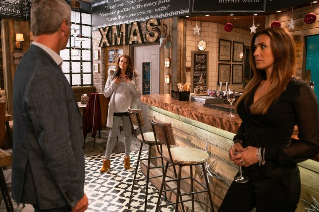Robert Preston, Michelle Connor and Vicki Jeffries in Coronation Street