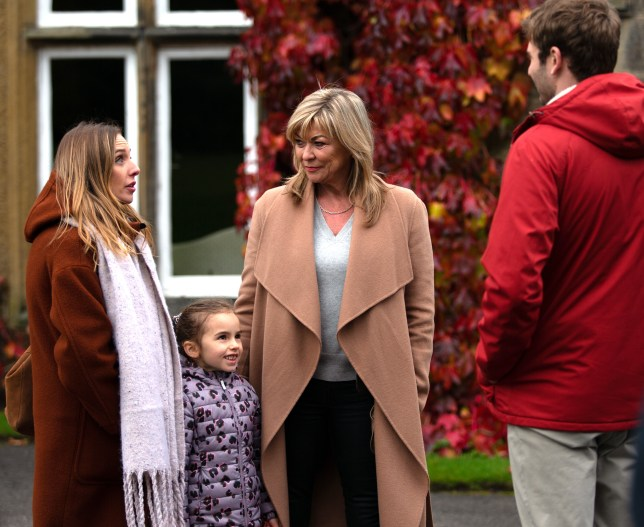 Kim, Millie, Andrea and Jamie Tate in Emmerdale