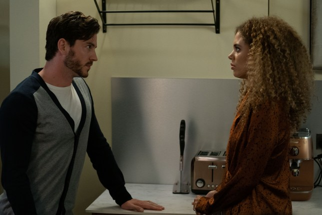 Chantelle and Gray Atkins in EastEnders