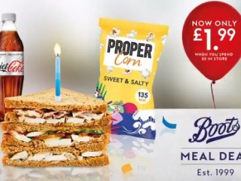 You can get a Boots meal deal for £1.99 this week