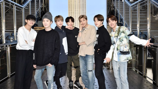 BTS members from left to right: V, Suga, Jin, Jungkook, RM, Jimin and J-Hope