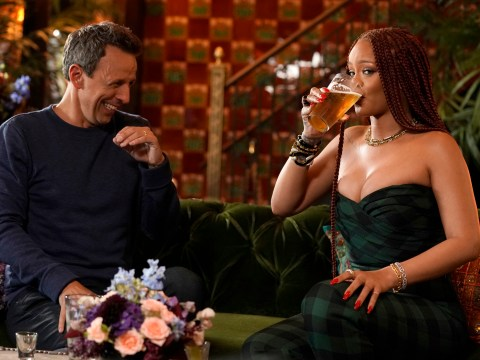 Rihanna is 'bad at taking pictures' says Seth Meyers after their iconic day drinking session