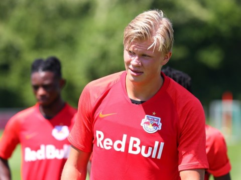Red Bull Salzburg boss discusses Man Utd target Erling Haaland's future and plays down January exit