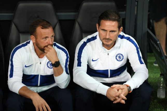 Chelsea head coach Frank Lampard with assistant Jody Morris