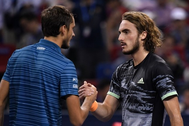 Daniil Medvedev faces rival Stefanos Tsitsipas at the ATP Finals on Monday