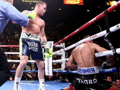 Canelo Alvarez ahead on scorecards at time of brutal knockout of Sergey Kovalev
