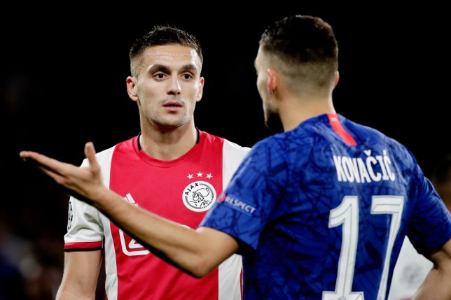 Ajax captain Dusan Tadic unhappy after Chelsea draw