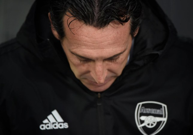 Unai Emery is battling to save his Arsenal job after a poor run of results