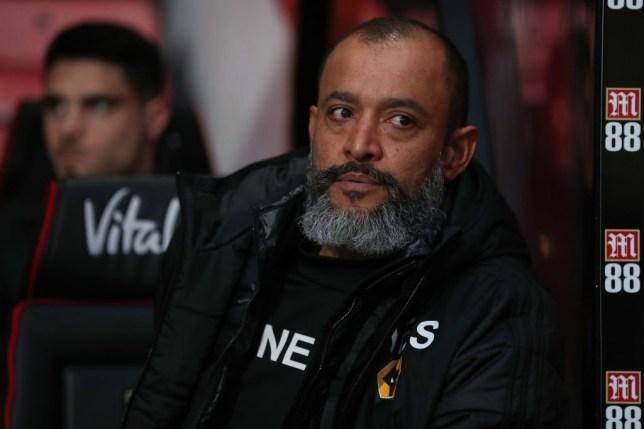 Arsenal-linked Nuno Espirito Santo during Wolves' Premier League clash with Bournemouth