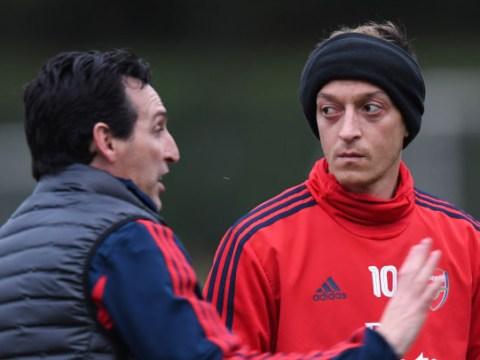 Unai Emery explains decision to start Mesut Ozil for Arsenal's game against Wolves