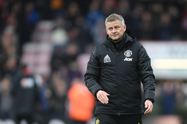 Ole Gunnar Solskjaer looks disappointed after Manchester United's defeat to Bournemouth