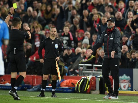 What Jurgen Klopp told referee before receiving yellow card during Liverpool's Champions League draw with Napoli