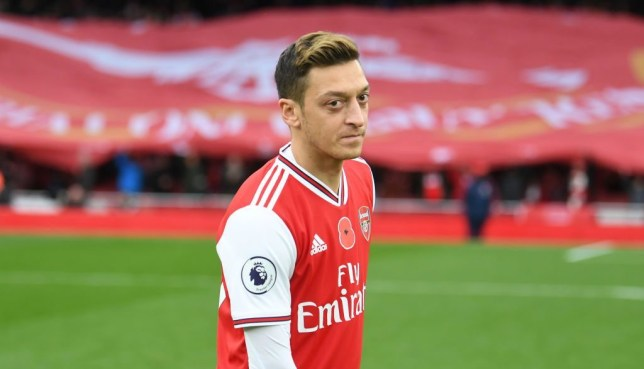 Unai Emery has been slammed after starting Arsenal star Mesut Ozil against Wolves
