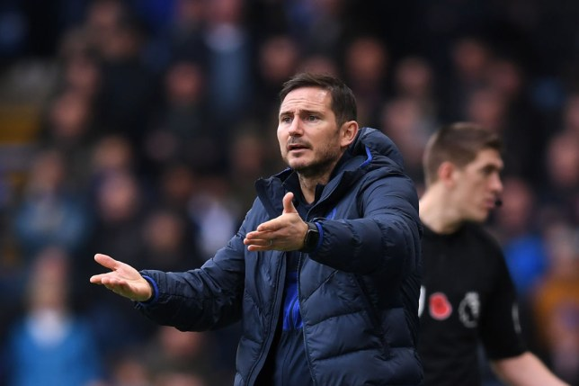 Frank Lampard demanding more from his players during the win against Crystal Palace