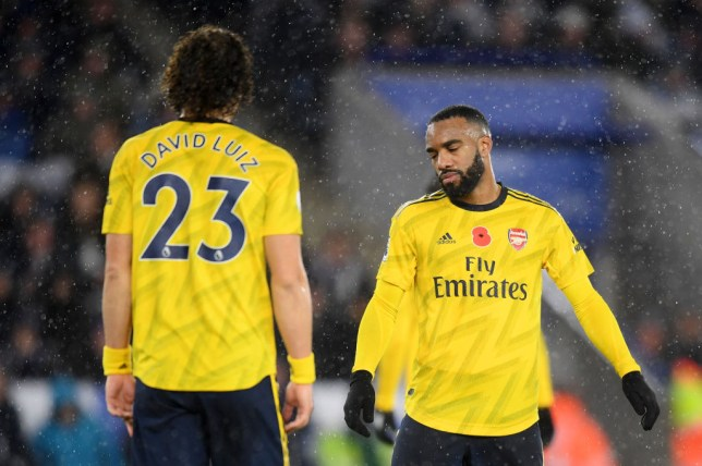 David Luiz and Alexandre Lacazette