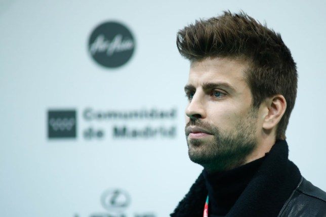 Barcelona centre-back Gerard Pique looks on ahead of the Davis Cup in Madrid