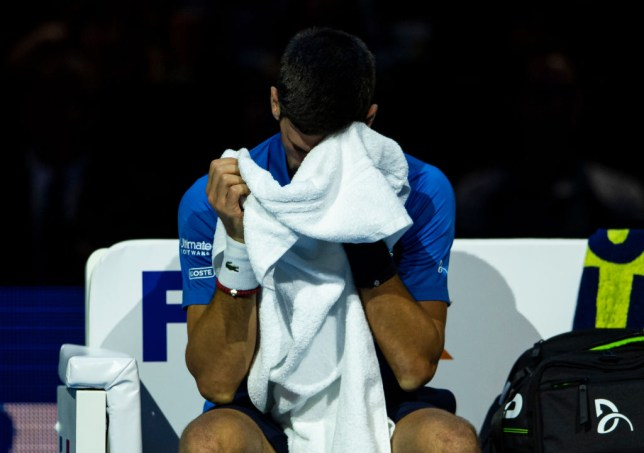Novak Djokovic was knocked out of the ATP Finals by Roger Federer