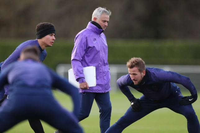 Jose Mourinho leads his first training session as manager of Tottenham
