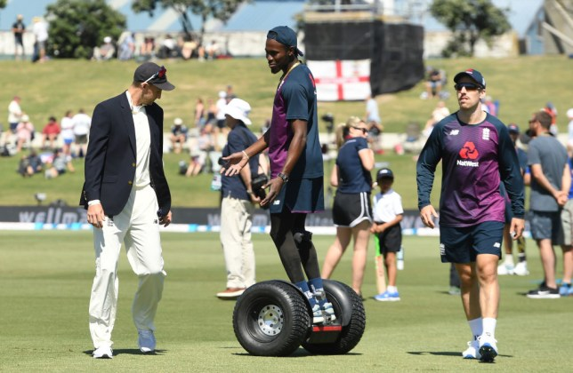 England rebuked Jofra Archer during the opening New Zealand Test