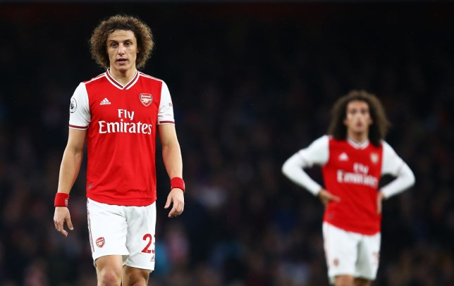 Former Chelsea ace David Luiz during Arsenal's draw with Southampton in the Premier League