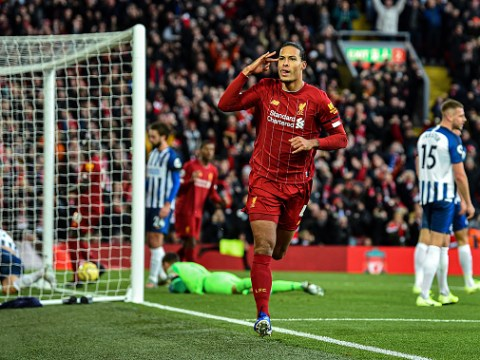 Liverpool equal club record with win over Brighton thanks to Virgil van Dijk brace