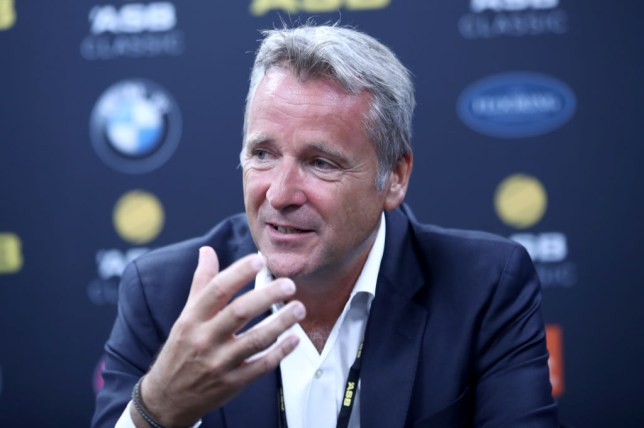 ATP chief Chris Kermode speaks at a press conference