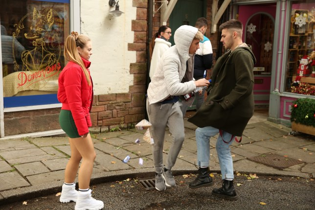 Sid Sumner, Juliet Quinn and Romeo Quinn in Hollyoaks