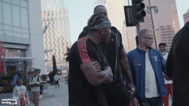 KSI clashes with Logan Paul's Shannon Briggs