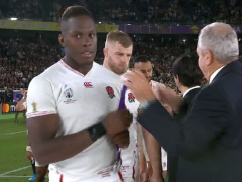 Maro Itoje refuses to wear silver medal after England's defeat to South Africa in Rugby World Cup final