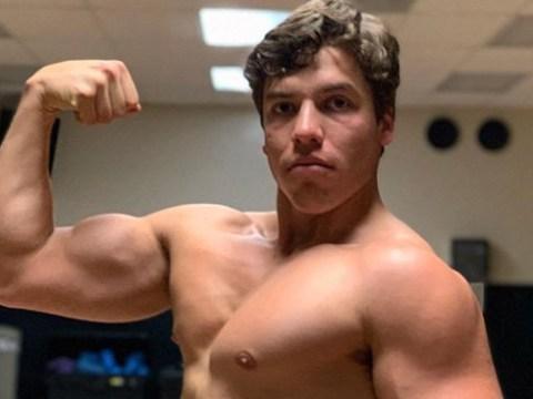 Arnold Schwarzenegger's son Joseph Baena spitting image of Mr Olympia as he shows off impressive biceps