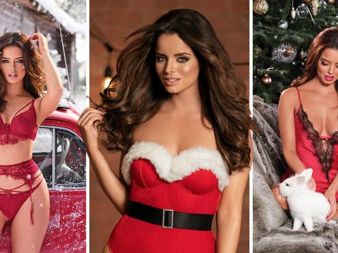 Christmas comes early for Maura Higgins fans as Love Island star gets festive in Christmas-themed lingerie campaign