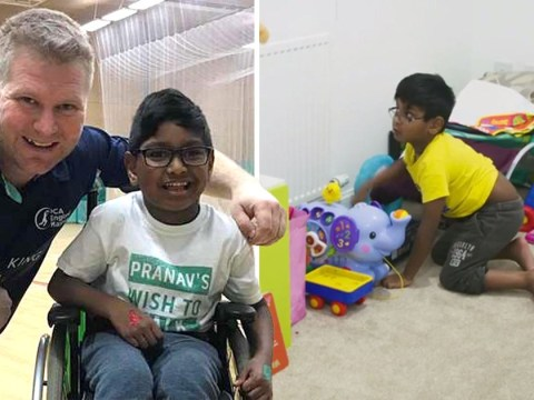Disabled boy stands up for first time after strangers paid for life changing surgery