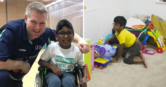 Pranav's life has been turned around thanks to the kindness of strangers (Picture: Channel 4/ Curve Media Boy)