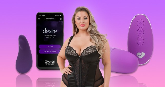 Sex toys next to woman wearing lingerie from Lovehoney ahead of Black Friday