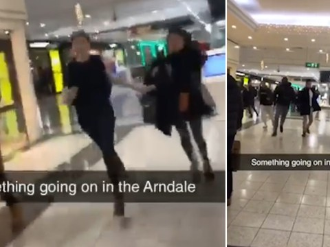 Shoppers 'run for their lives' after fireworks are set off inside the Arndale