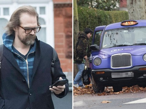 Stranger Things' David Harbour leaves Lily Allen's home days after she wears ring on engagement finger